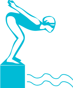 256x309 Diving Clipart Swimmer