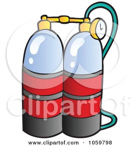 450x470 Royalty Free Vector Clip Art Illustration Of Scuba Diving Oxygen