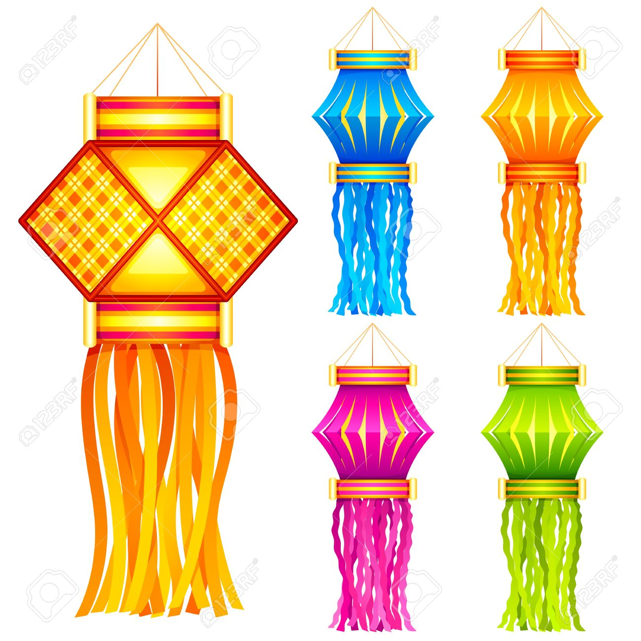 1300x1300 Diwali Hanging Lantern Royalty Free Cliparts, Vectors, And Stock