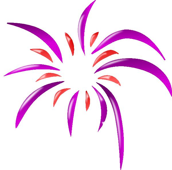 600x593 Firework 2 Colors Clip Art