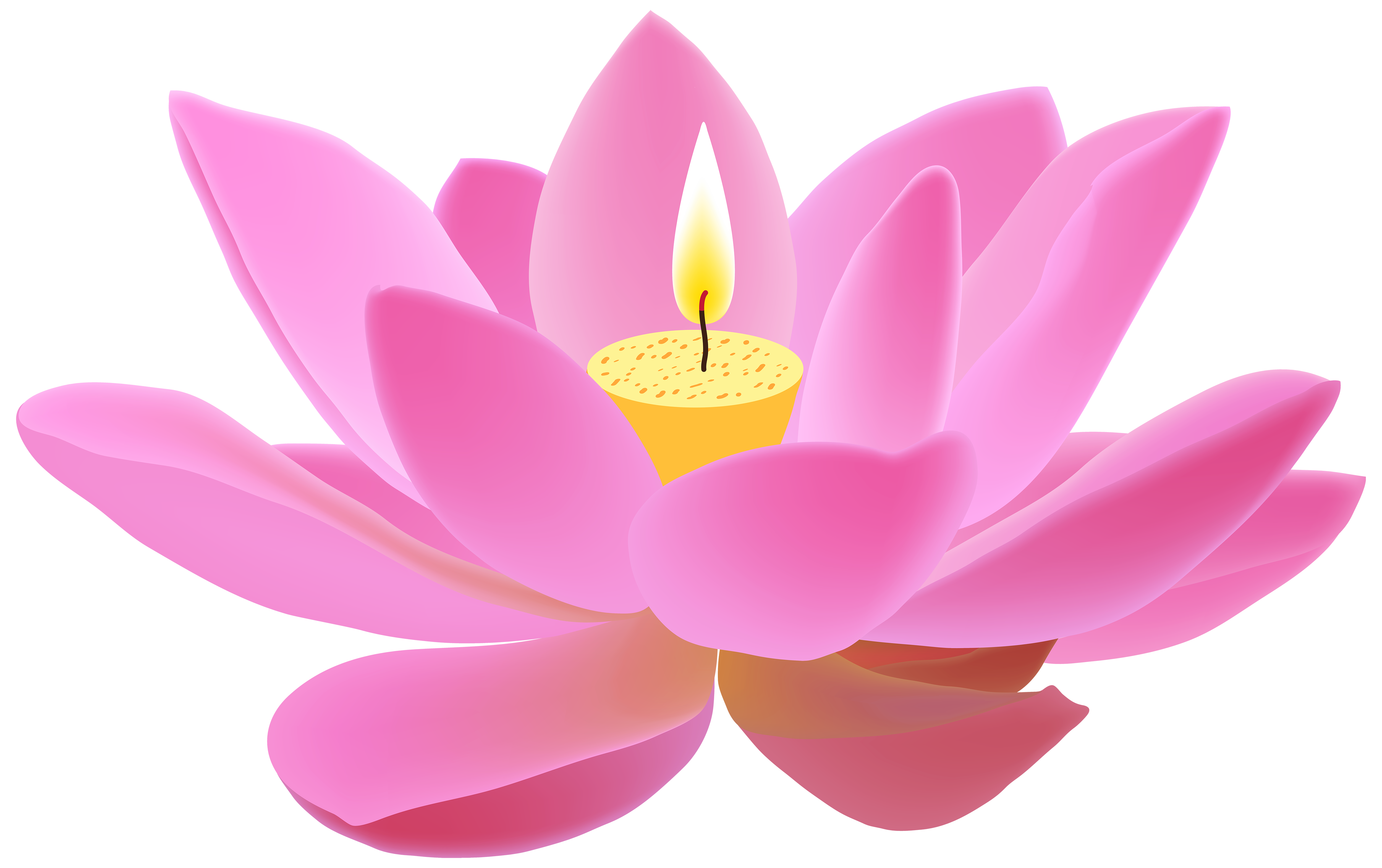 5000x3144 Lotus Candle Free Png Clip Art Imageu200b Gallery Yopriceville