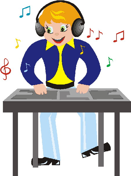 452x604 Happy Dj Clipart