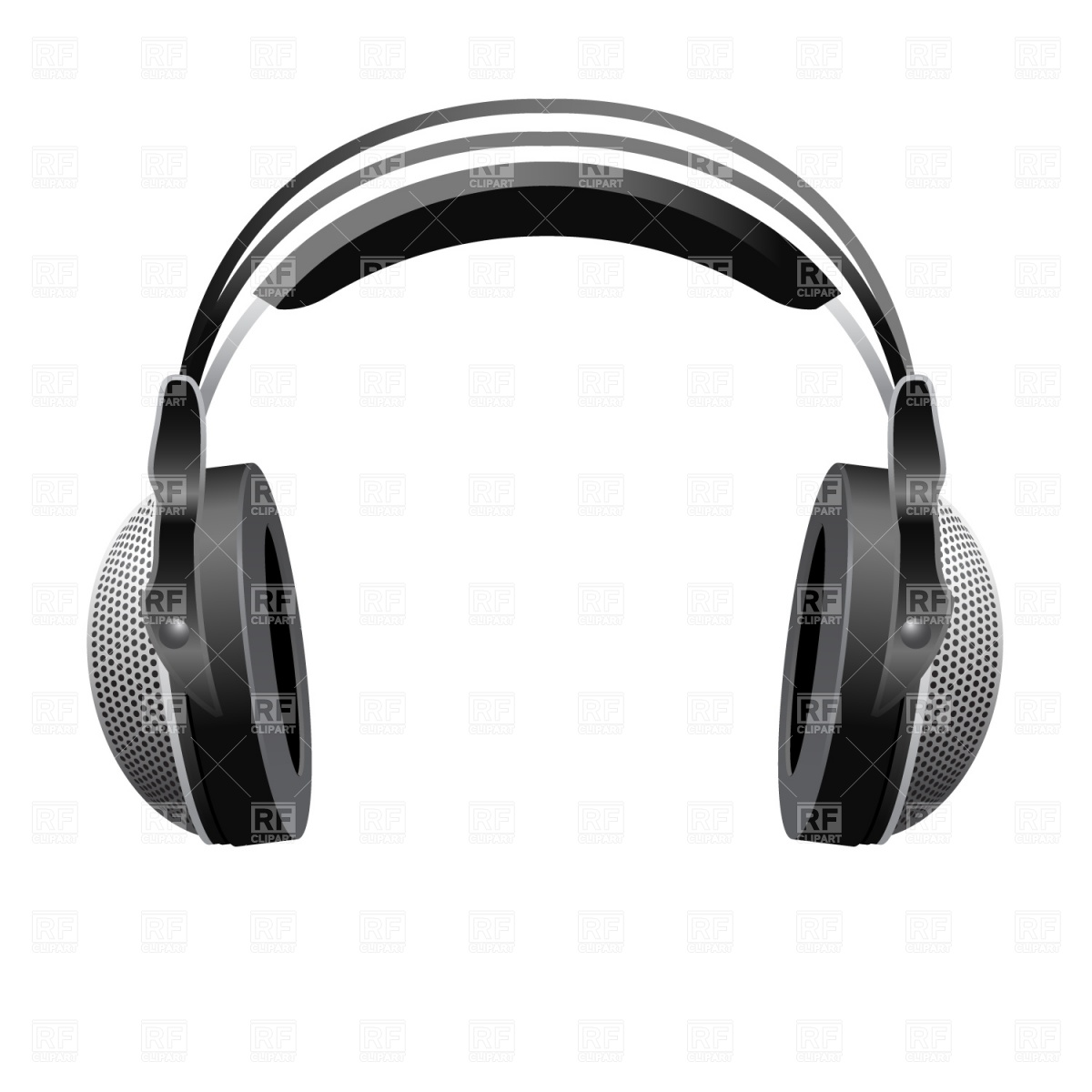 1200x1200 Large Dj Headphones Royalty Free Vector Clip Art Image