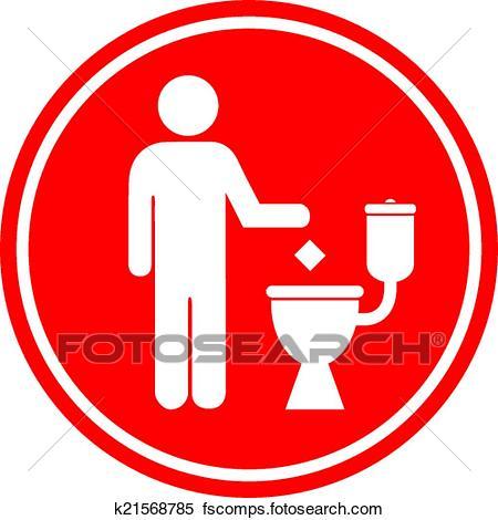 450x470 Clipart Of Do Not Litter In Toilet K21568785