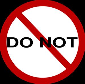 299x297 Do Not Sign Clip Art