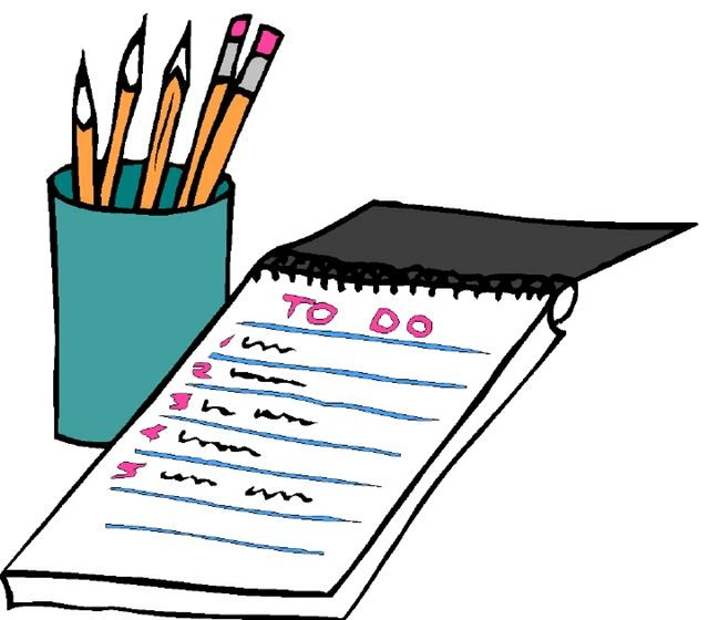 640x560 To Do List Clipart To Do List Template