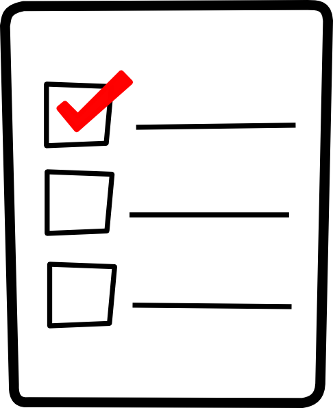 486x596 Check List Clip Art