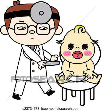 434x470 Clip Art Of People, Treatment, Job, Baby, Doctor, Medical