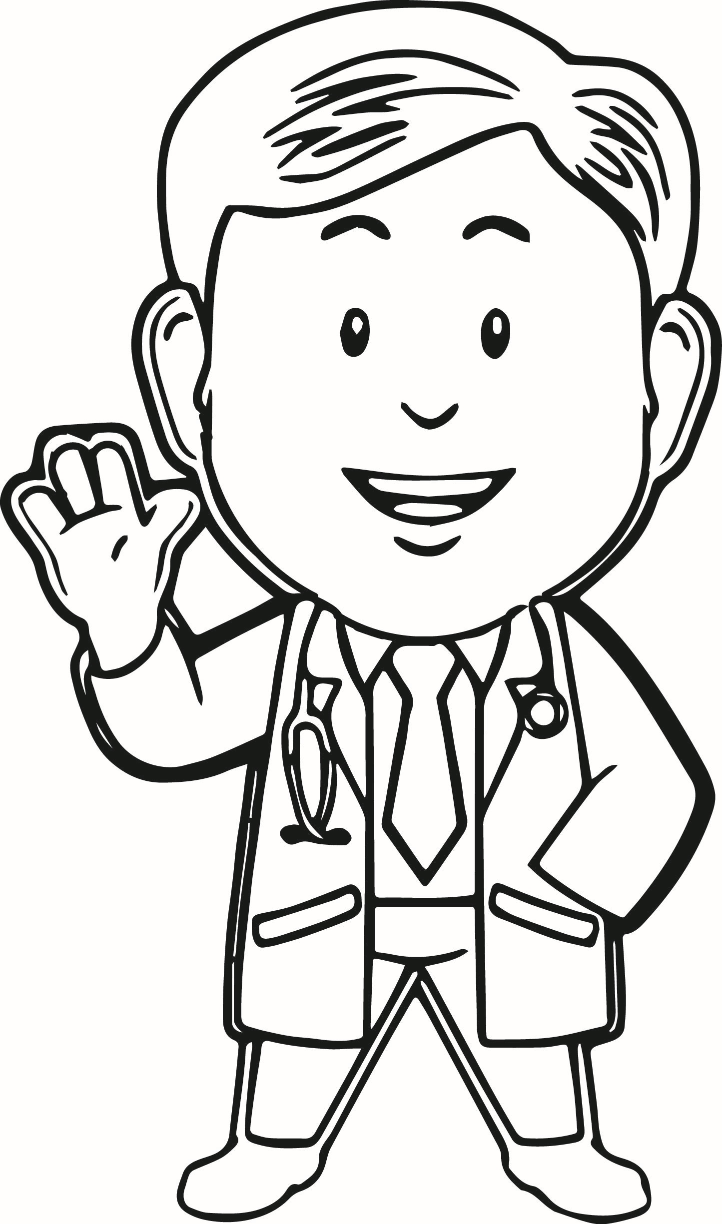 1445x2450 Doctor Coloring Pages For Kids Many Interesting Cliparts