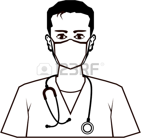 450x442 Doctor Vector Illustration Clip Art Image Black And White Royalty