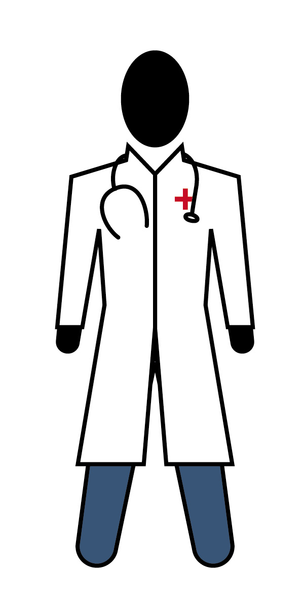 600x1200 Doctor Clipart Black And White Free Images 3