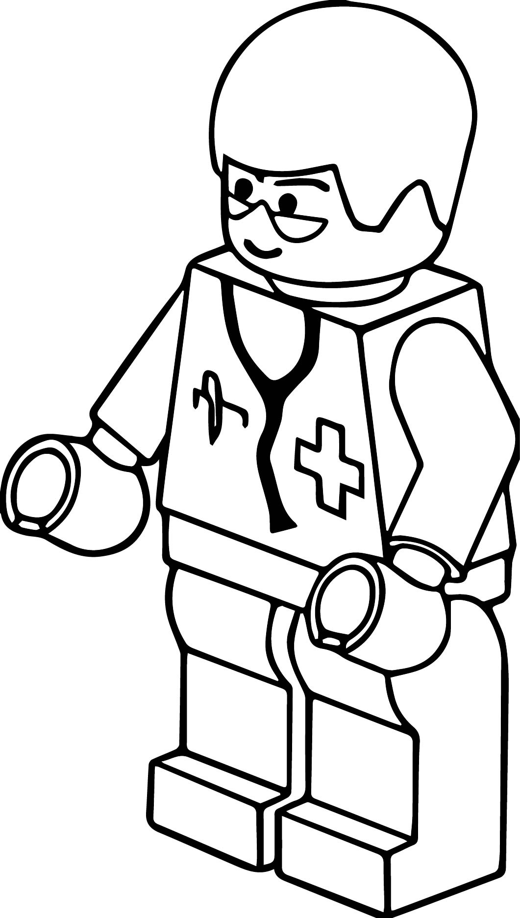 1061x1873 Lego Clip Art Pitr Lego Town Doctor Coloring Page Wecoloringpage