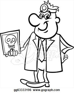 295x370 Black And White Doctor Clipart