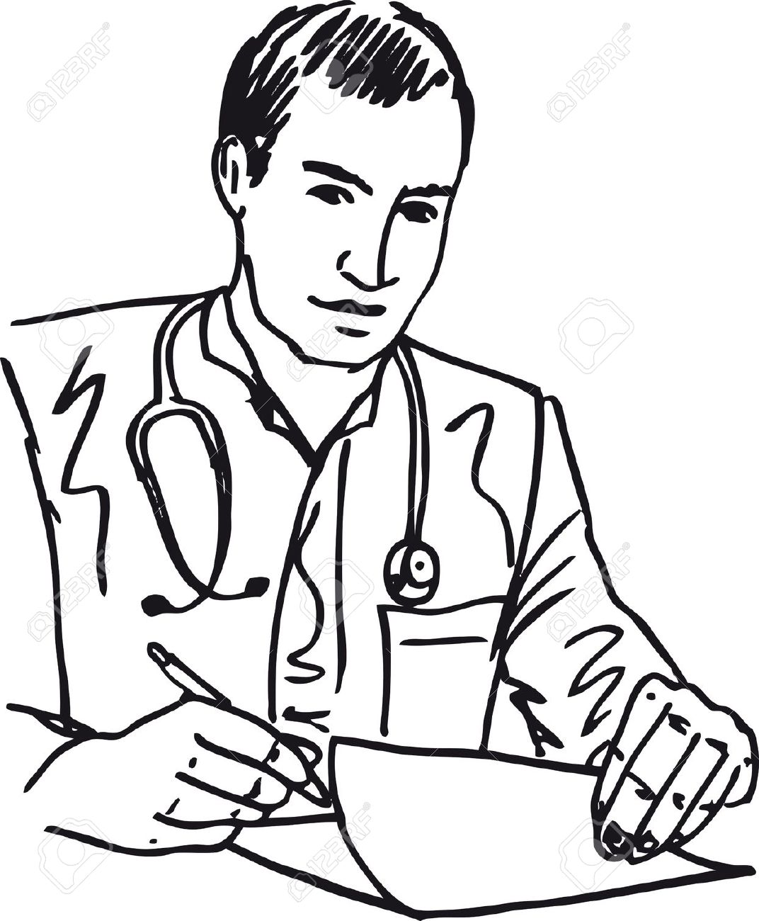 1072x1300 And White Doctor Clipart