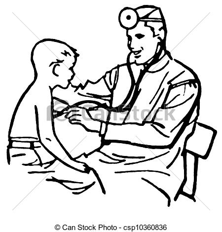 450x470 Black And White Clipart Of Doctor