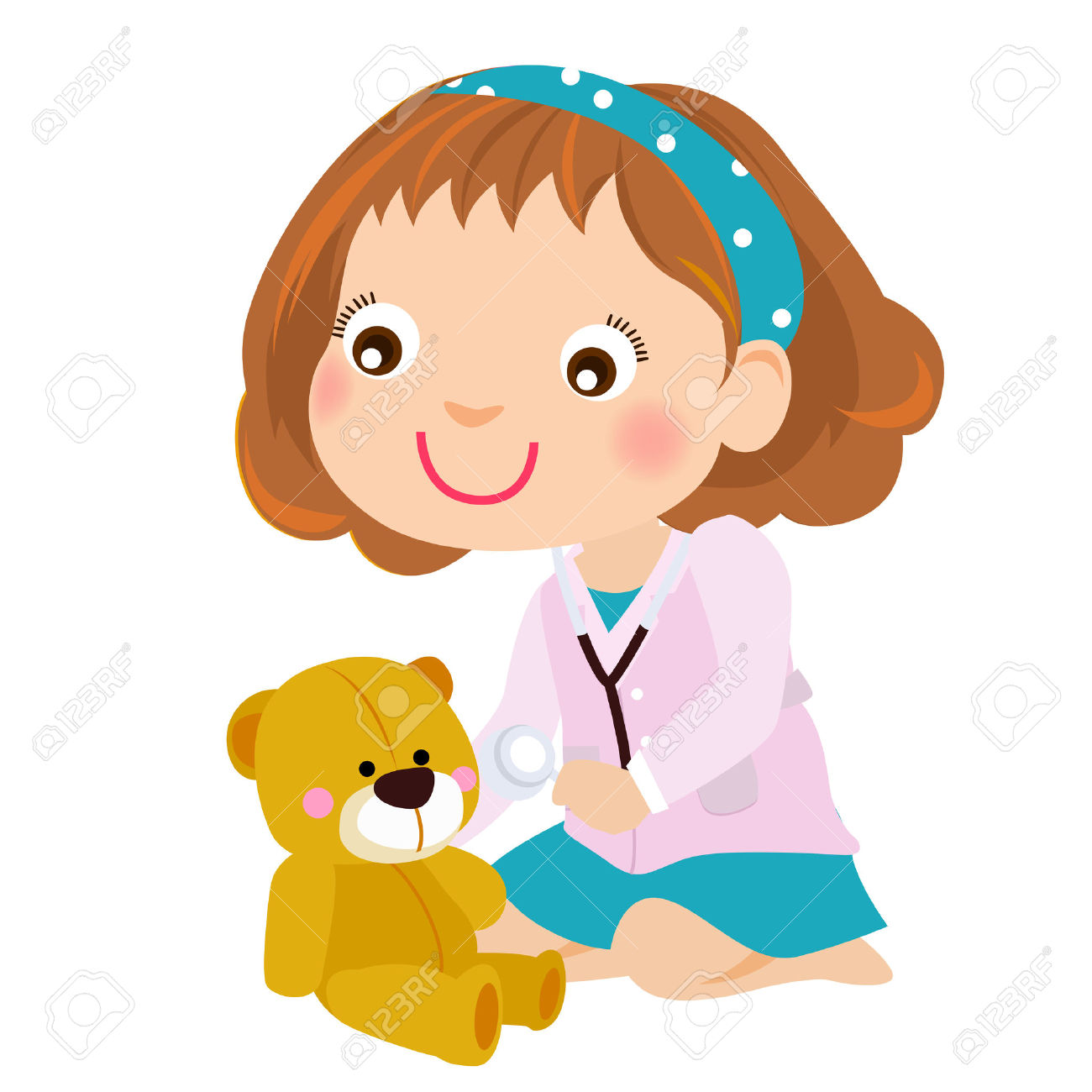 1300x1300 Child Clipart Playing Doctor