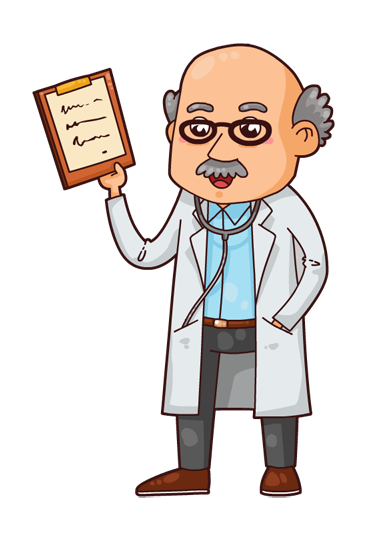 387x537 This Cute Cartoon Doctor Clip Clipart Panda
