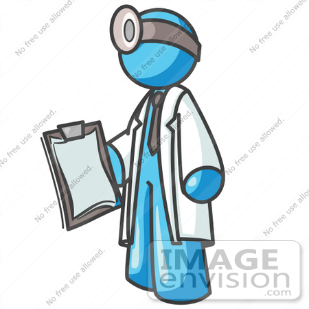 450x450 Cliprt Graphic Of Sky Blue Guy Character Doctor Carrying