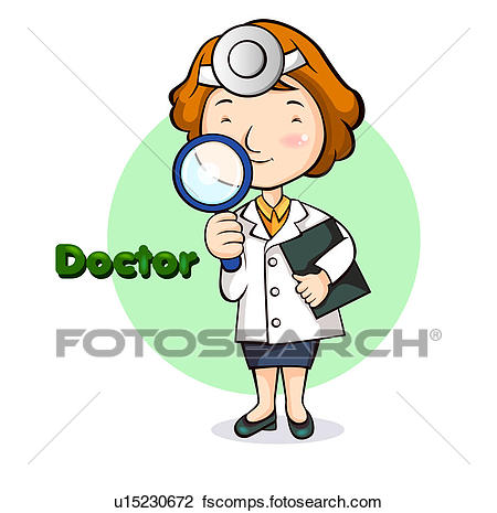 450x465 Clip Art Of Female Doctor U15230672