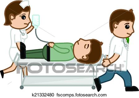 450x317 Clipart Of Doctor And Nurse Carrying Patient K21332480