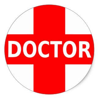 324x324 Doctor Symbol Stickers Zazzle.co.uk