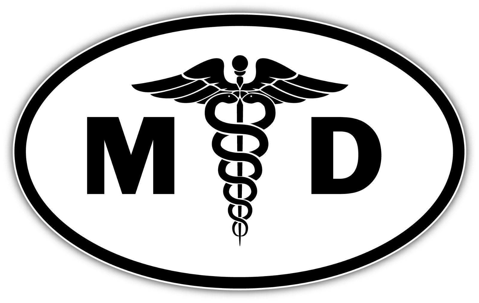 1600x1014 Md Medical Doctor Oval Symbol Sign Car Bumper Window Sticker Decal