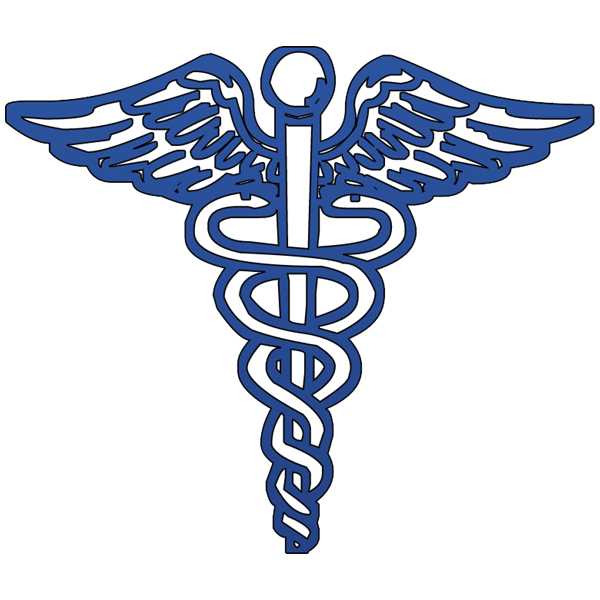600x600 Blue Caduceus Medical Symbol Clipart Image