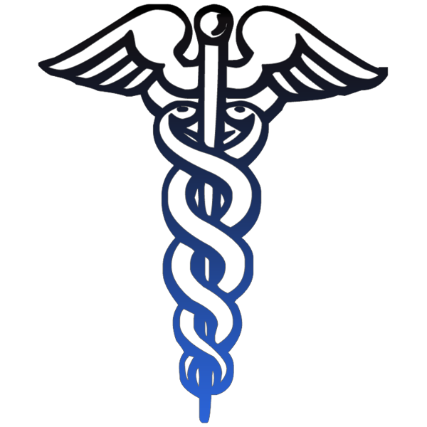 600x600 Caduceus Medical Symbol Outline Black Clipart Image