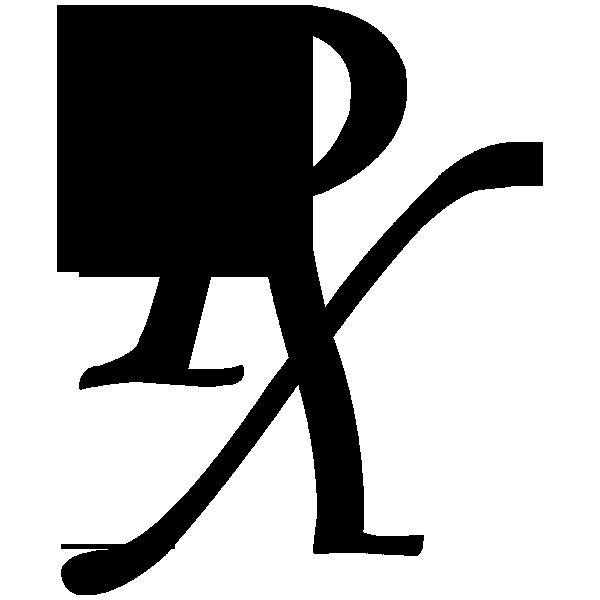 600x600 Rx Symbol Black Monotype Plain Clipart Image