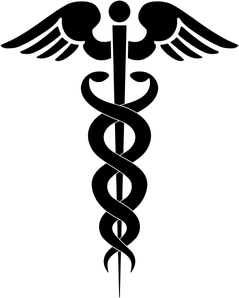 480x599 Caduceus Medical Symbol Clip Art