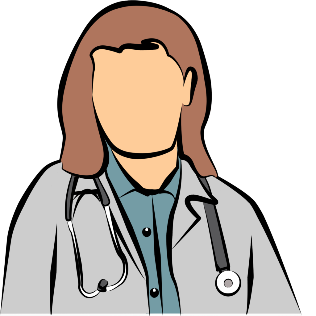 1024x1024 Simple Female Doctor Clipart