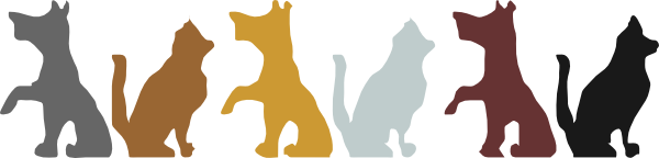 600x144 Dog And Cat Silhouette Clip Art Free Clipart Panda