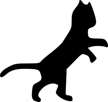 425x401 Dog And Cat Silhouette Clip Art Free 2