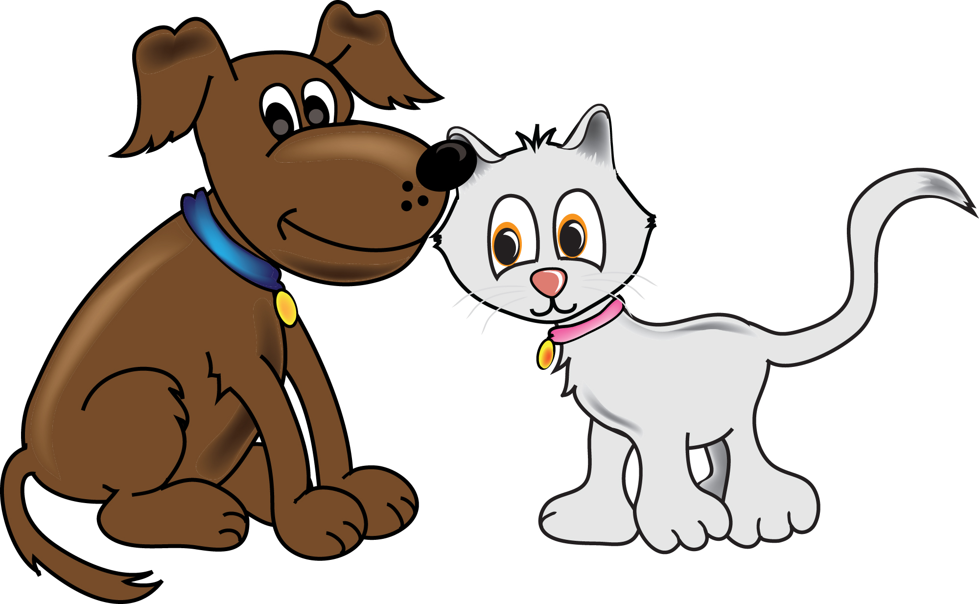 2000x1233 Pet Dog And Cat Clipart