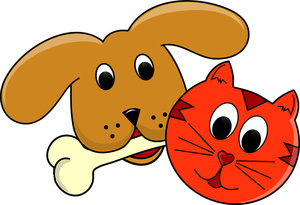 300x205 Pets clipart dog and cat