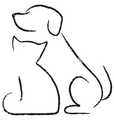 380x400 cat dog clipart