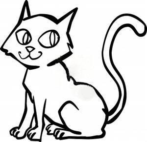 300x291 Cat Line Drawing Clip Art