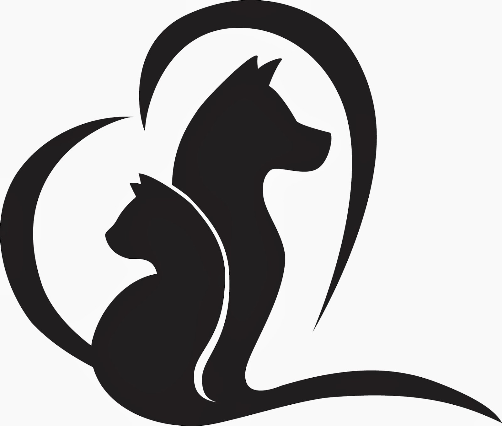 Dog And Cat Clipart Black And White | Free download best ...