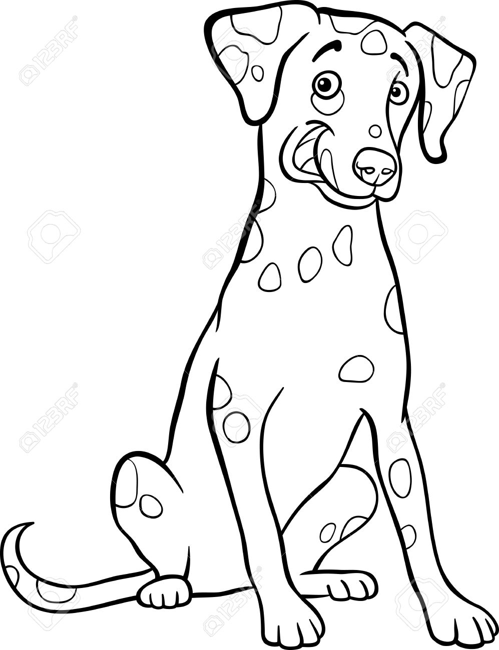 997x1300 Dalmation Clipart Black And White