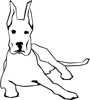 359x400 Dog Black And White Clip Art