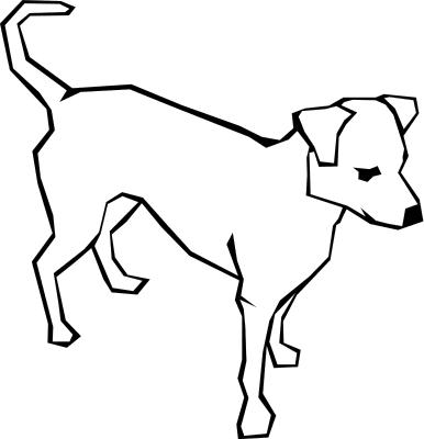 386x400 Dog black and white dog black and white clip art clipart photo