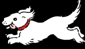 299x174 White Dog Clip Art