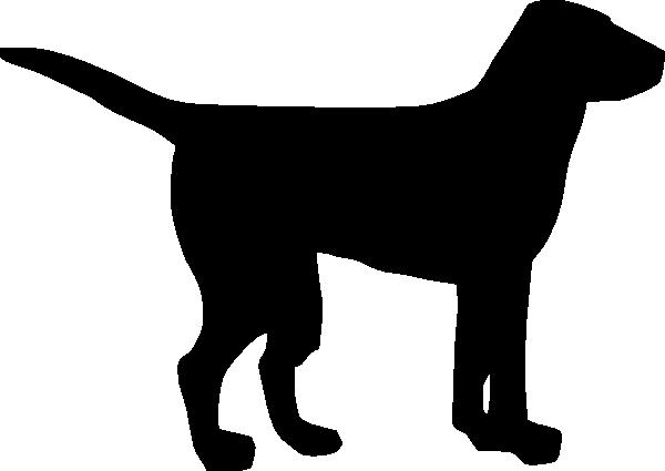 600x425 Black Dog Clip Art