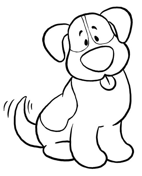 484x600 Black And White Dog Clipart