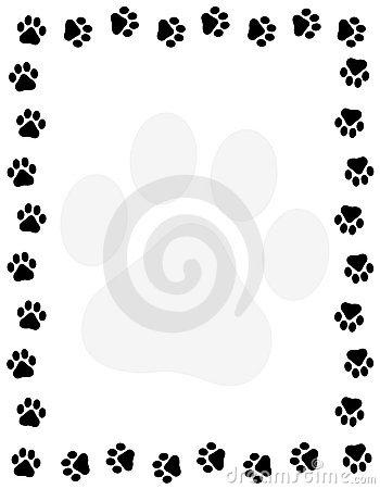 350x450 Dog Border Clipart