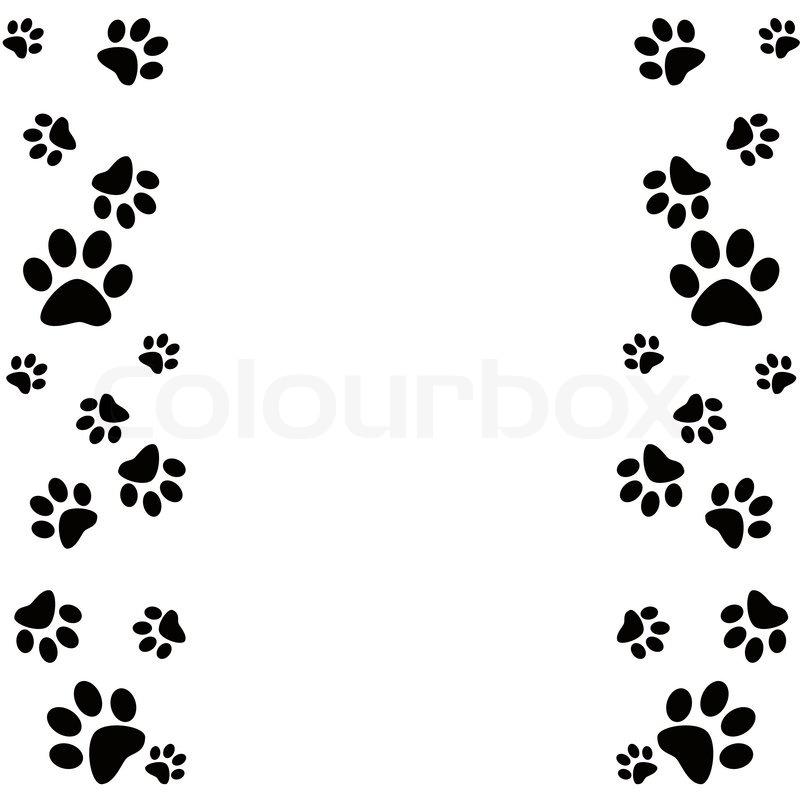 800x800 Dog Border Clipart