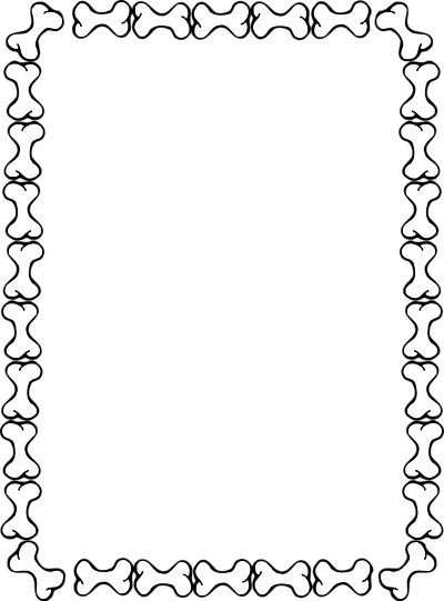 400x541 Blank Border Of Dog Bones. Clipart Panda