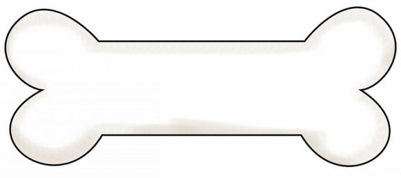 820x365 Cartoon Clipart Dog Bone