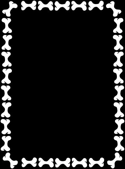 400x541 Blank Border Of Dog Bones. Clipart Panda