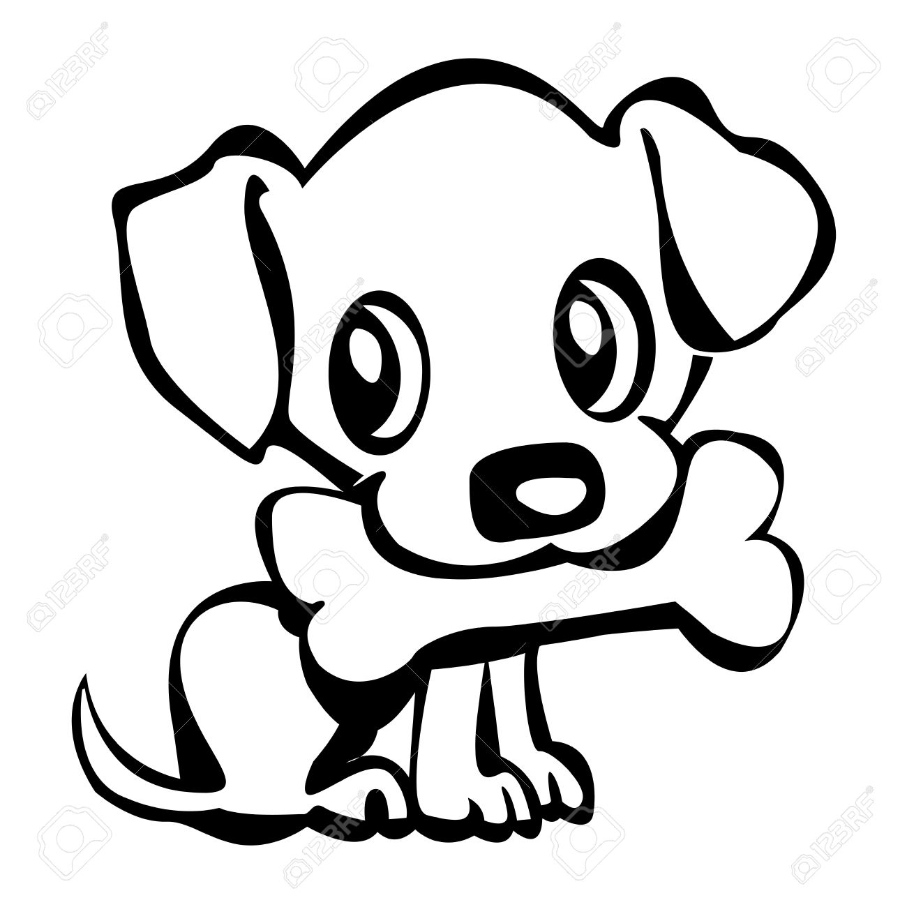 1300x1300 Puppy clipart outline